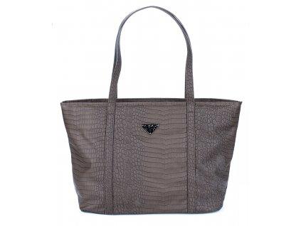 Velká kabelka do ruky a přes rameno Shopper Jennifer Jones hnědá 3457 ModexaStyl (1)