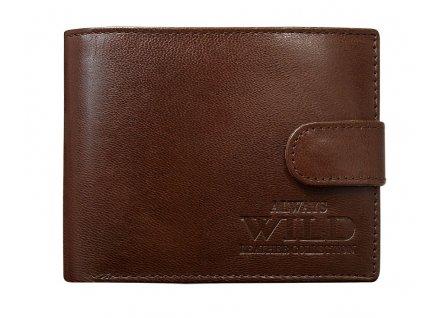 Pánská kožená peněženka N992-VTG - hnědá