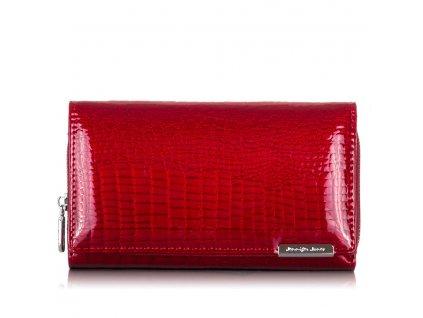 Prostorná dámská kožená peněženka červená Jennifer Jones 5261-2 ModexaStyl