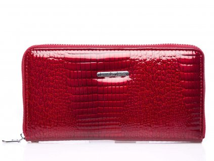 Velká dámská kožená peněženky na zip červená s poutkem Jennifer Jones 5295 RD (2)