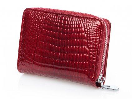 Malá kožená peněženka 5248 - červená