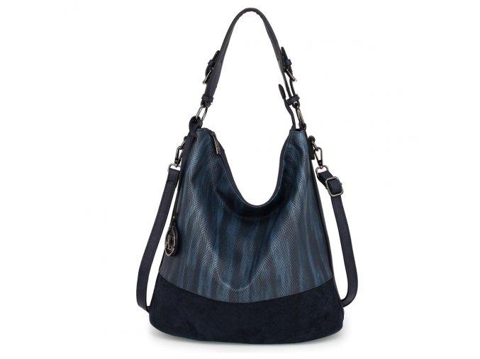 Hobo kabelka přes rameno Anna Grace modrá AG00557-NY