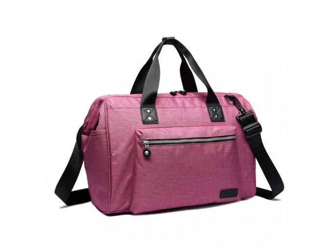 mateřská cestovní taška růžová Kono E1802 PK (6)