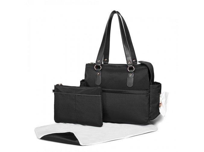 Mateřská přebalovací taška na kočárek černá LT6852 BK (2)