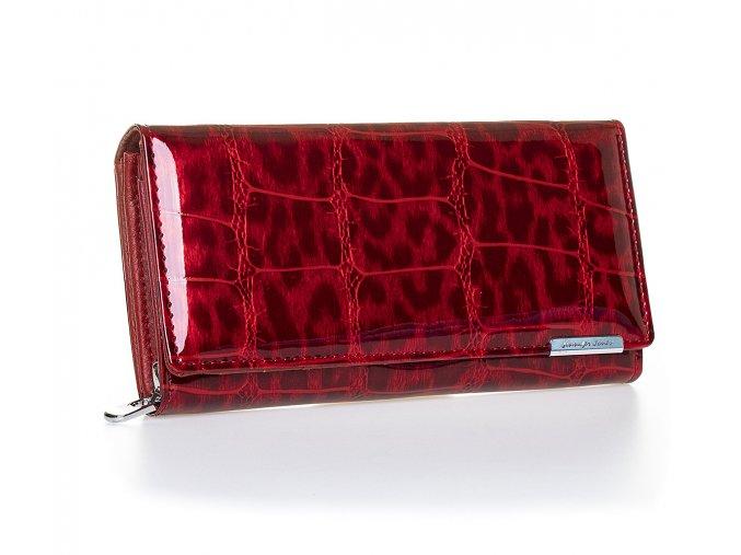 Dámská kožená peněženka červená jennifer Jones 5288 3 (6)