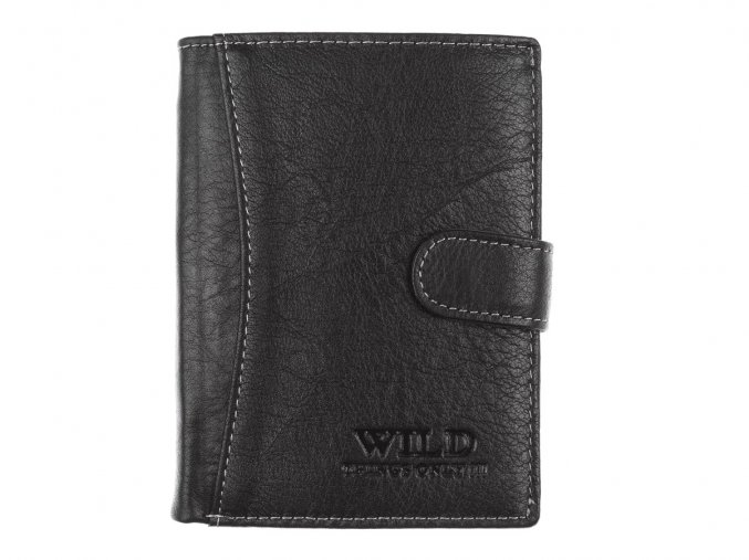 Pánská kožená peněženka Wild 5502 černá (2)