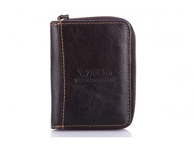 Malá pánská kožená peněženka Wild 5511 hnědá (2)