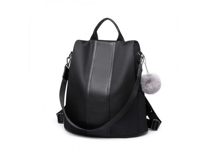 Dámský batůžek Miss Lulu černý LG1903 BK (4)