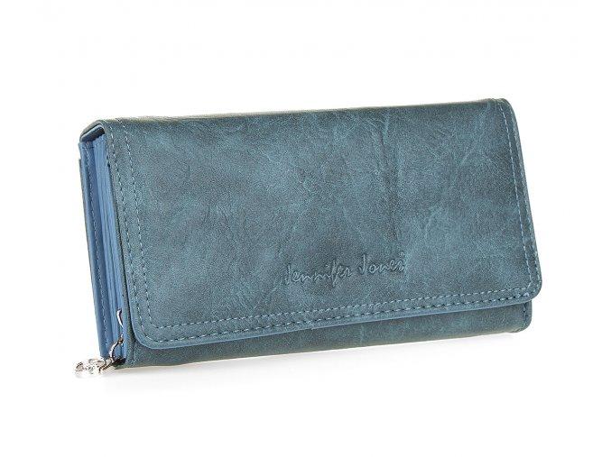 Dámská peněženka modrá Jennifer Jones umělá kůže 1108 BE (3)
