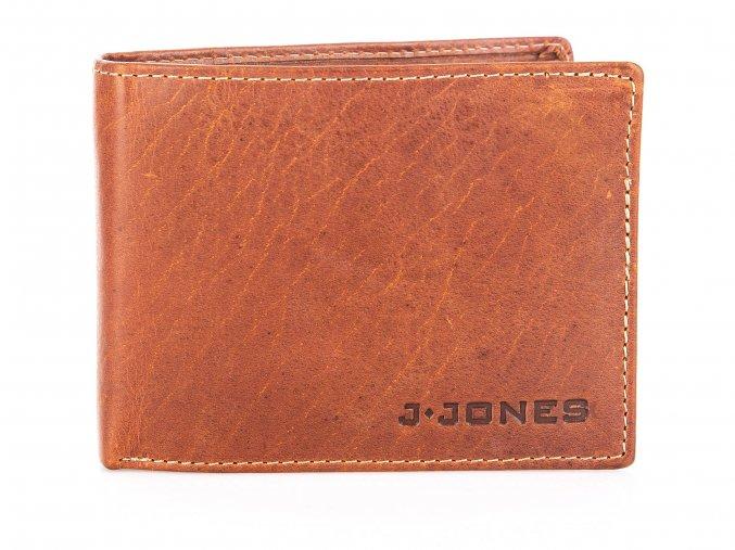 Pánská kožená peněženka hnědá Jennifer Jones 5329 (2)