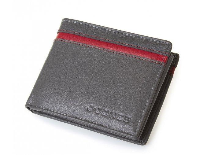 Pánská kožená peněženka šedá Jennifer Jones 5544 GR (3)