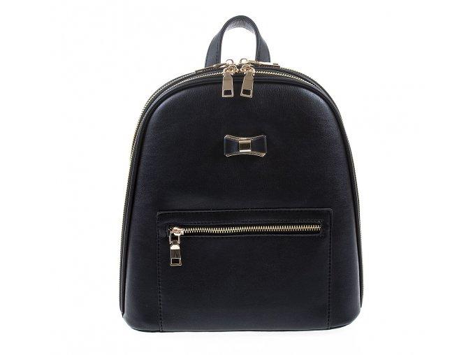 Dámskýkožený batoh černý Paula Rossi 9505 1 ModexaStyl (2)