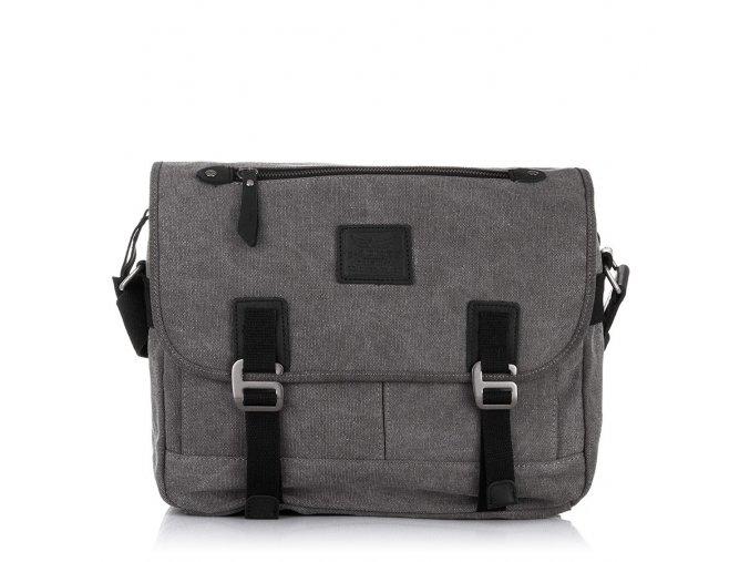 Pánská taška přes rameno Canvas šedá Jennifer Jones 4555 GY (1)