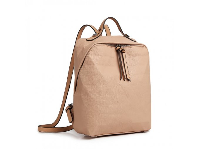Dámský kožený batoh_batůžek Kono LG1904 béžový
