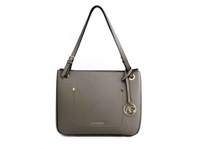 Elegantní kabelka přes rameno a do ruky Anna Grace AG00570 šedá (2)