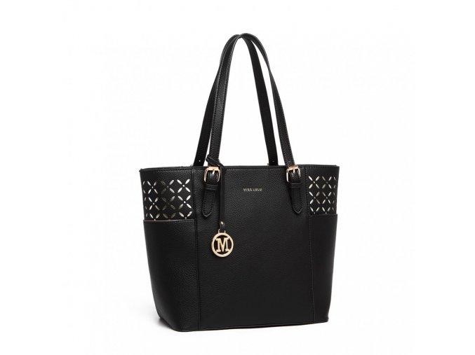 Velká dámská kabelka Miss Lulu černá LG1943 BK (3)