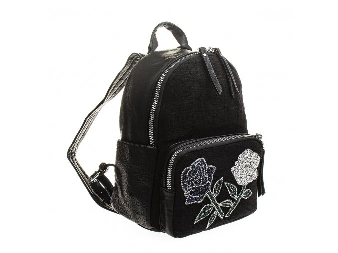Dámský kožený batůžek 7260 černý Alpini (3)