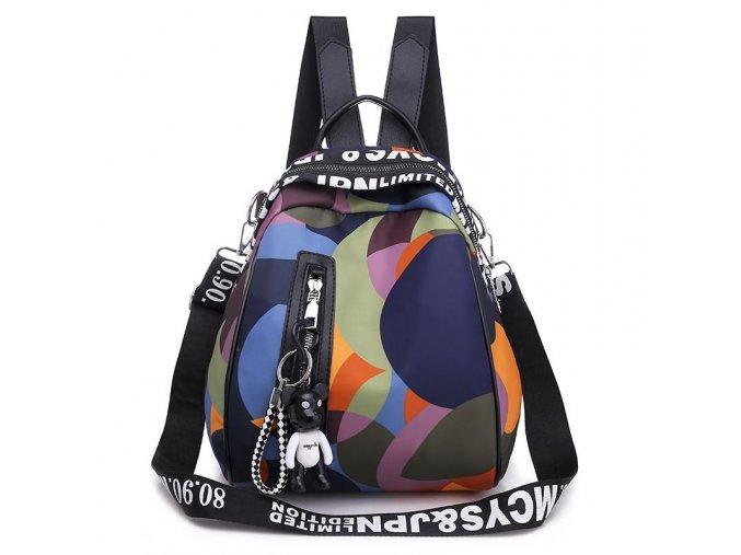 Malý dámský městský lehký batůžek multicolor Gil Bags 2030 32 ModexaStyl (1)