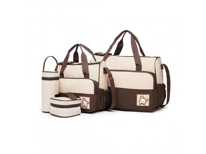 Sada mateřských tašek Miss Lulu hnědá 9026 BN (2)