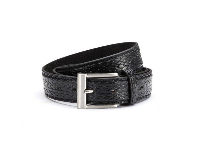 Černý kožený opasek 10018 1 ModexaStyl (3)