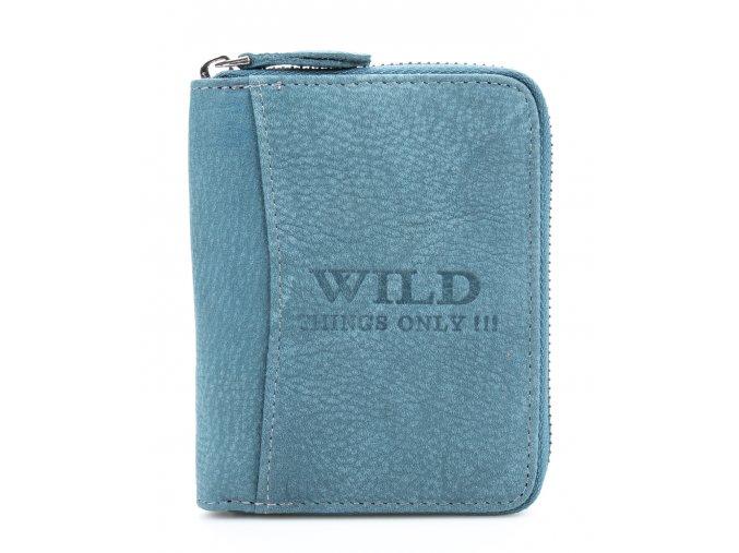 Pánská kožená peněženka na zip Wild modrá 5508 ModexaStyl (2)