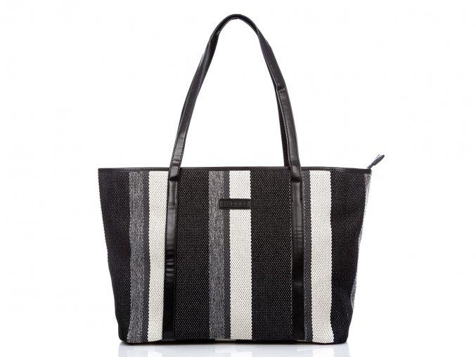 Velká dámská kabelka přes rameno Shopper Jennifer Jones 2357 černobílá ModexaStyl (10)