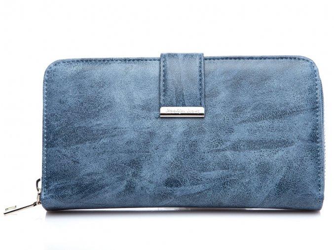 Velká dámská peněženka na zip Jennifer Jones11040 7 modrá světlá ModexaStyl (2)