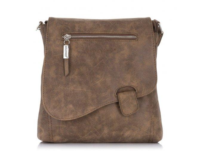 Crossbody kabelka přes rameno 3421 Bag Street hnědá ModexaStyl (1)