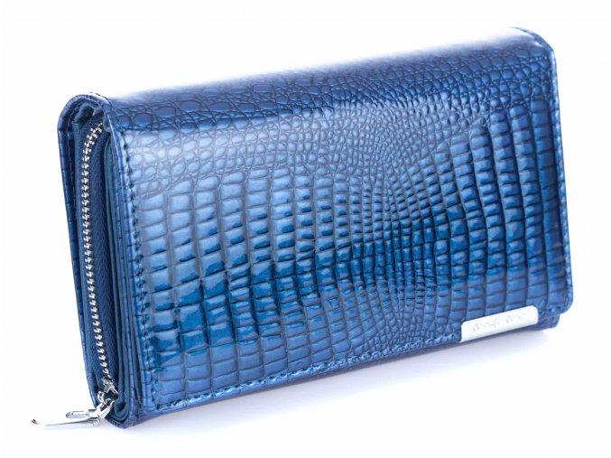 Dámská kožená peněženka Jennifer Jones 5261 modrá ModexaStyl (5)