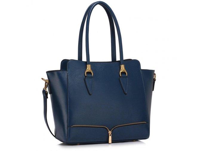 Elegantní kabelka do ruky a přes rameno LS00456 LS Fashion modrá navy ModexaSty (2)