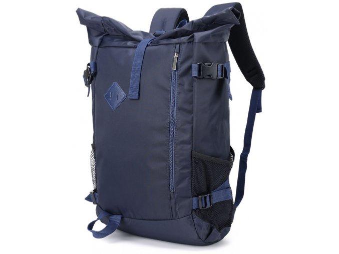 Batoh Roll Top unisex 1011 GIL BAGS modrý ModexaStyl (2)