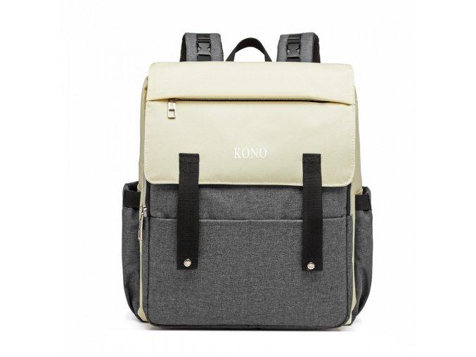 Přebalovací mateřský batoh nejen na kočárek KONO E1970 šedý ModexaStyl (2)