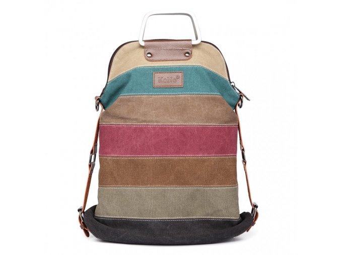 Dámský batoh a kabelka přes rameno 2v1 Rainbow Kono 1711 ModexaStyl (2)