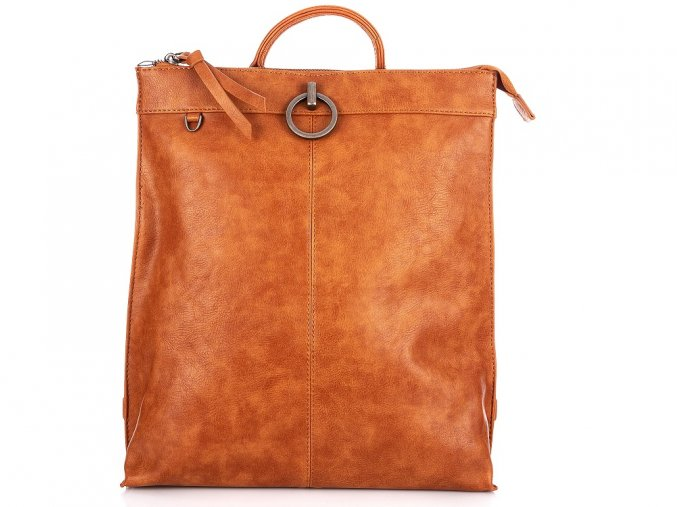 Stylový dámský kožený batoh Jennifer Jones 3132 hnědý ModexStyl (3)