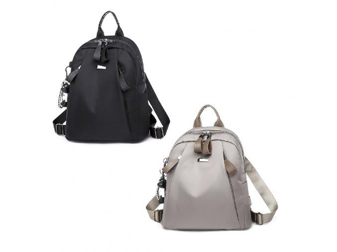 Dámský batůžek Leona Gil Bags 2040 černý šedý ModexaStyl