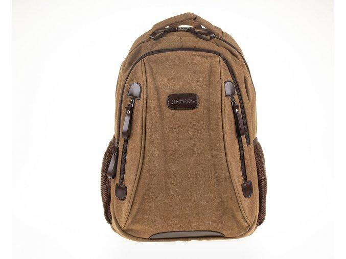 Stylový pánský batoh z pevné tkaniny hnědý Gil Bags GB3004 5 ModexaStyl (2)