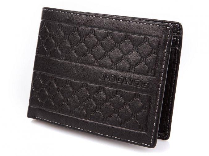 Pánská kožená peněženka černá J. JONES 5566 BK ModexaStyl (2)