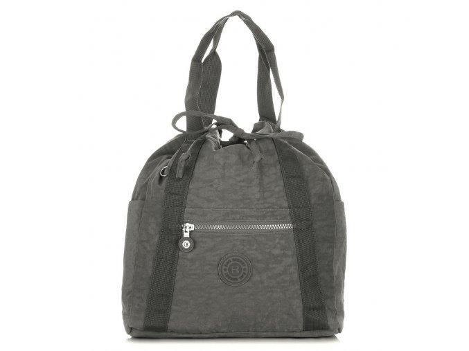 Lehký dámský batoh a kabelka Bag Street 2247 šedý ModexaStyl (1)