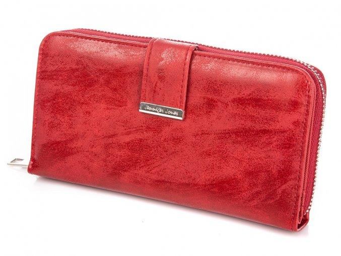 Velká dámská peněženka na zip Jennifer Jones11040 7 červená ModexaStyl (2)