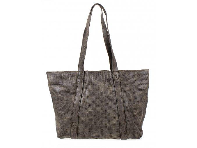 Velká kabelka do ruky a přes rameno Shopper Jennifer Jones 3456 hnědo šedá ModexaStyl (2)