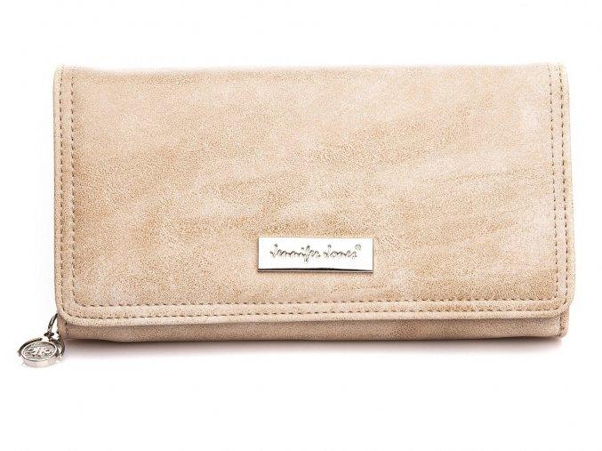 Elegantní dámská kožená peněženka Jennifer Jones 1108 7 béžová ModexaStyl (2)
