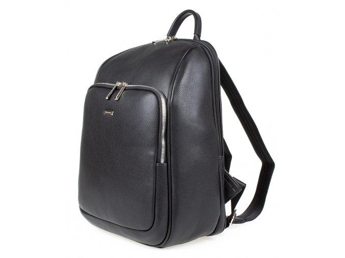 Dámský městský kožený batoh David Jones 798803 černý ModexaStyl (11)