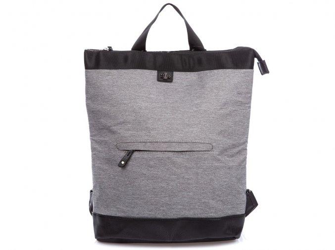 Stylový dámský městský batoh Jennifer Jones 4097 šedý světle ModexaStyl (2)