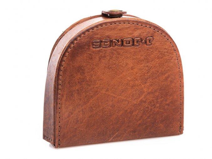 Kožená peněženka pouzdro na mince J Jones 5684 koňaková ModexaStyl (2)