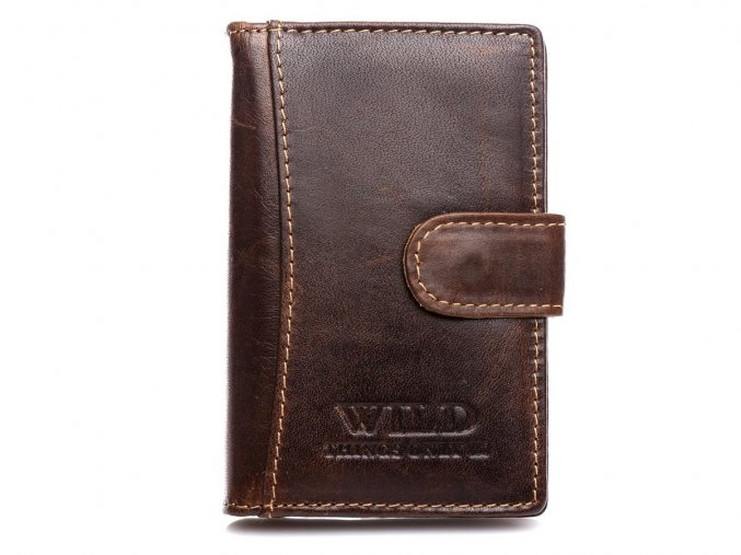 Kožené pouzdro na doklady karty a vizitky Wild 5515 hnědé ModexaStyl (2)