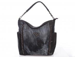 Velká riflová kabelka Jennifer Jones 4533 černá