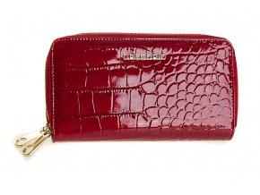 Dámská velká kožená peněženka na zip Gregorio červená BC 118 (7)