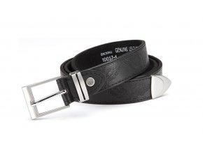 Pánský kožený opasek černý 10057-1