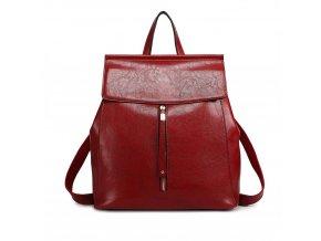 Dámský kožený batoh a kabelka přes rameno 2v1 Miss Lulu E6833 BY (3)