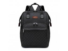 Mateřský přebalovací batoh na kočárek Kono E6705 BK černý (2)